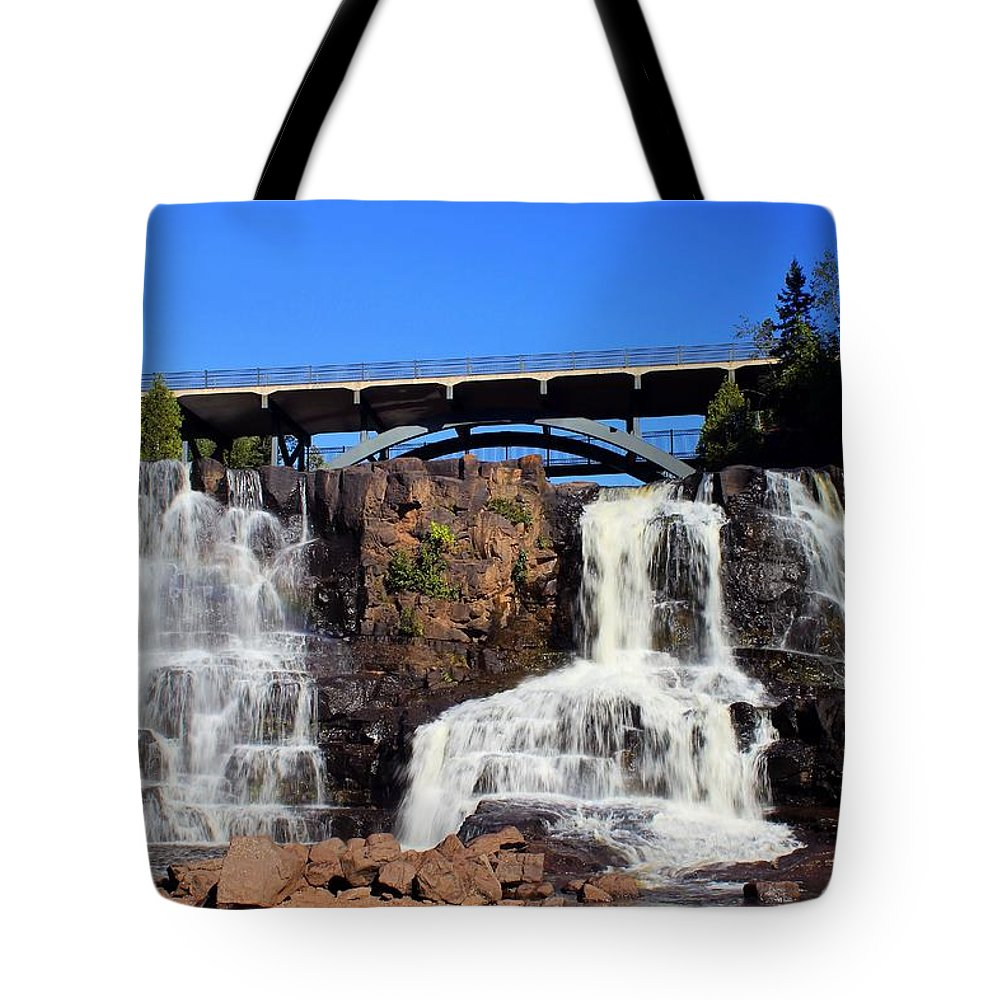Gooseberry Falls Tote Bag featuring the photograph Gooseberry Falls 3 by Jimmy Ostgard