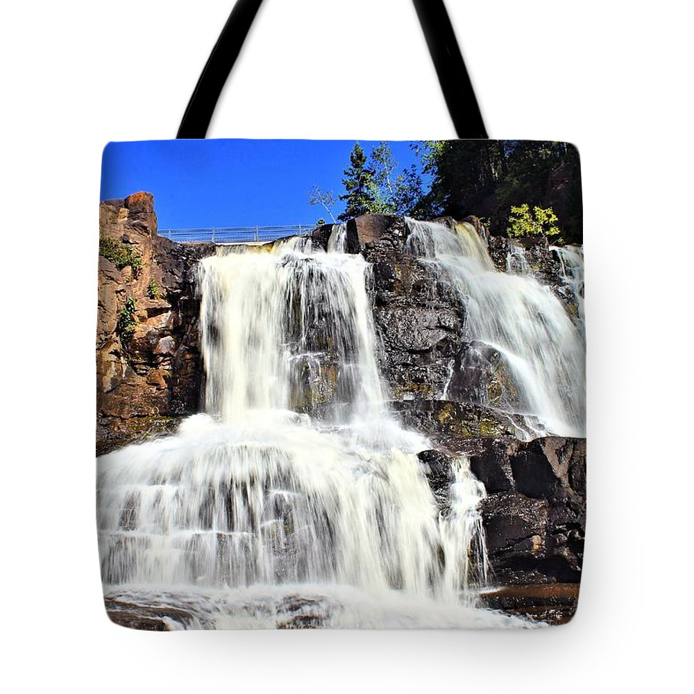 Gooseberry Falls Tote Bag featuring the photograph Gooseberry Falls 6 by Jimmy Ostgard