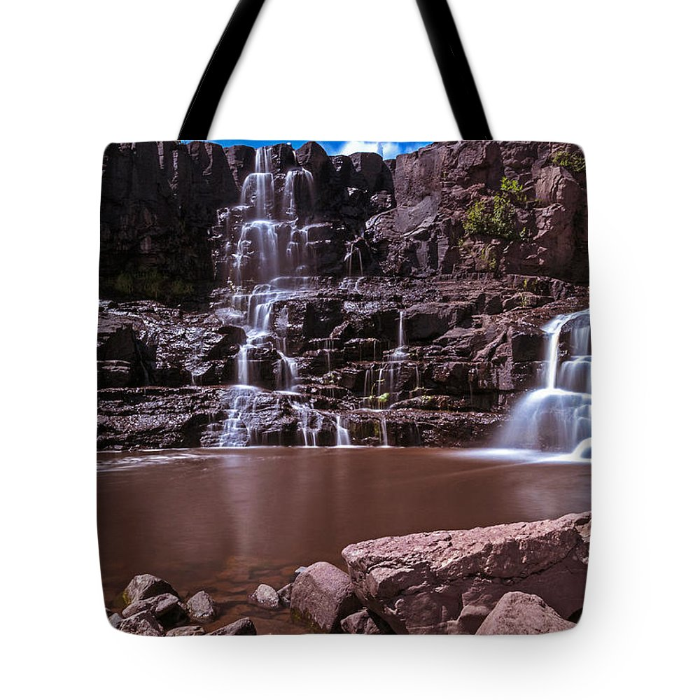 Gooseberry Falls Tote Bag featuring the photograph Gooseberry Falls Long Exposure by Lonnie Paulson