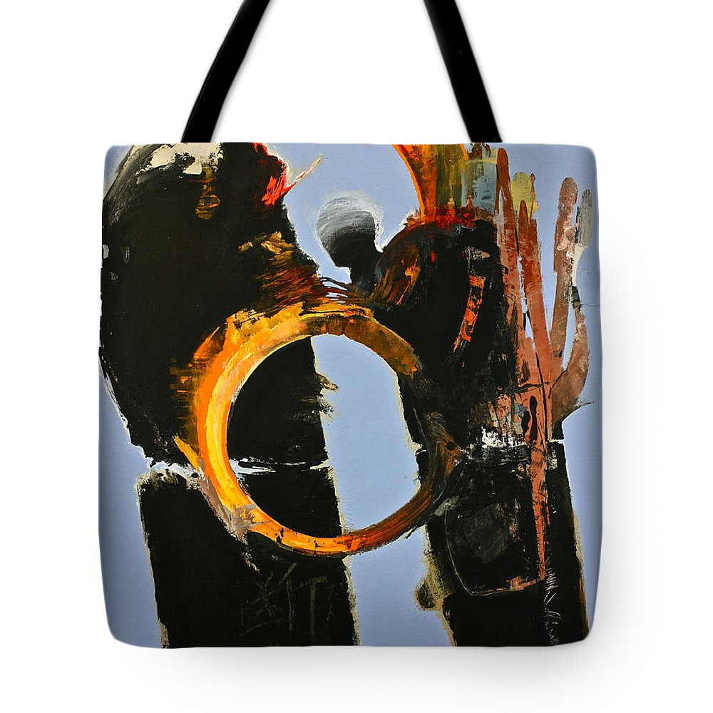 Abstract Paintings Tote Bag featuring the painting Gored Of The Rings by Cliff Spohn