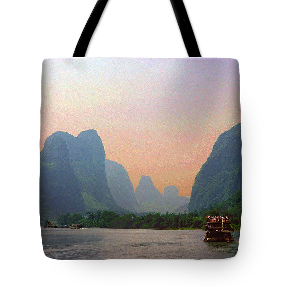 China Tote Bag featuring the photograph Gorge Of The Li River by Marvin Wolf