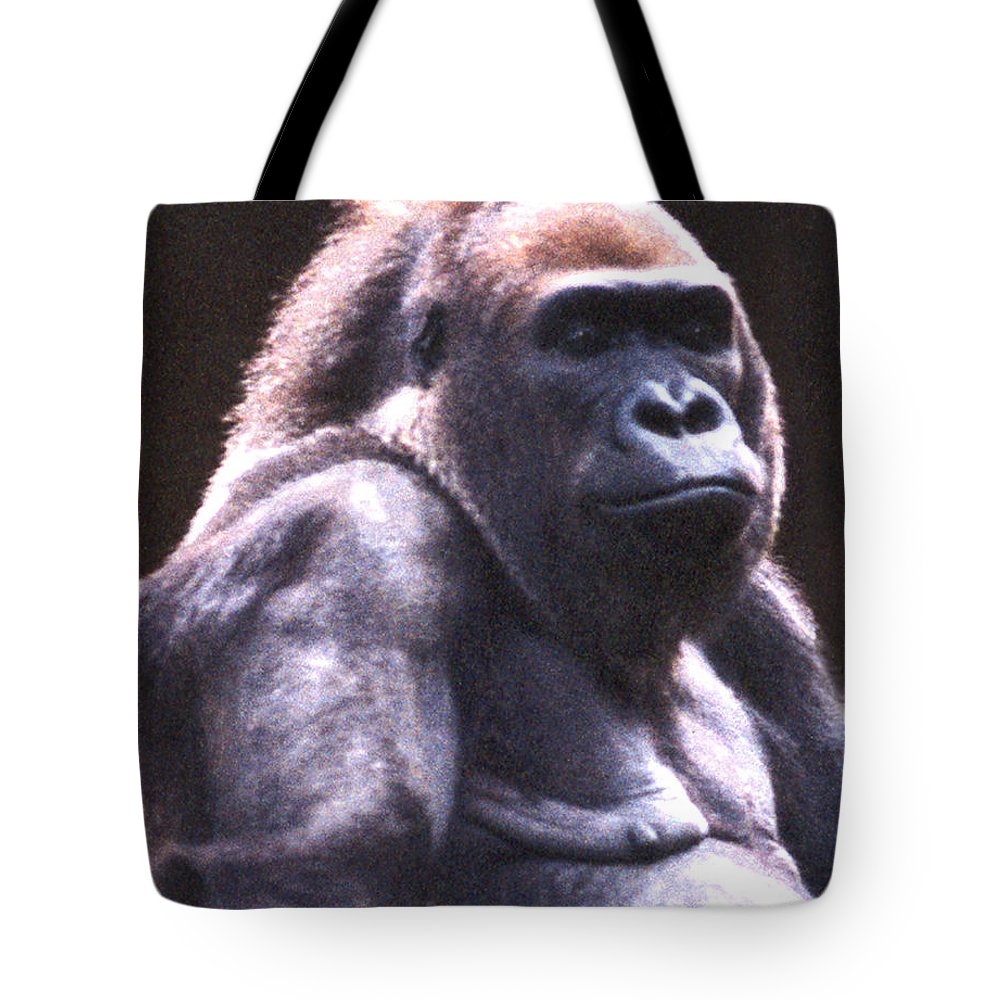 Gorilla Tote Bag featuring the photograph Gorilla by Steve Karol