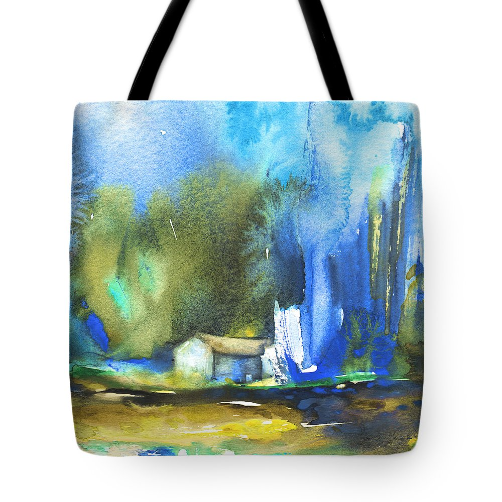 Watercolour Tote Bag featuring the painting Got The Blues by Miki De Goodaboom