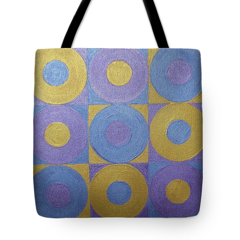 Bkue Tote Bag featuring the painting Got The Brass Blues by Gay Dallek