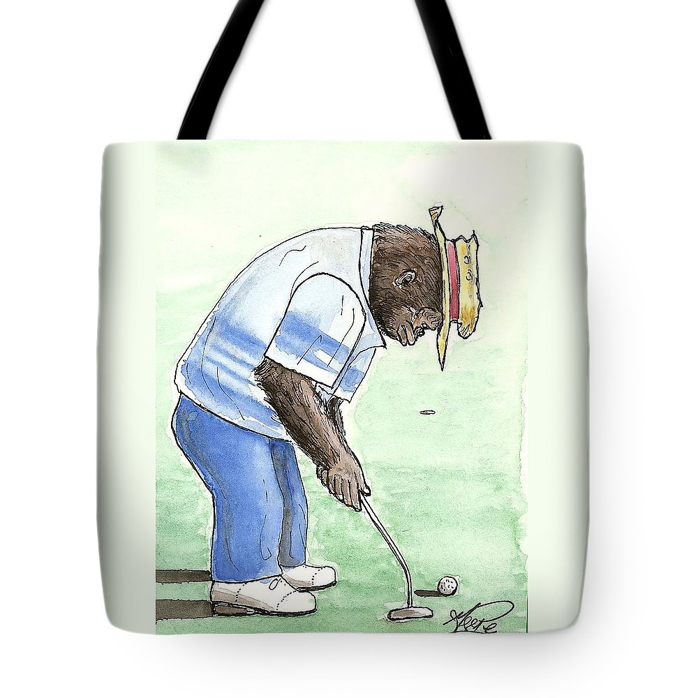 Golf Tote Bag featuring the painting Got You Now by George I Perez