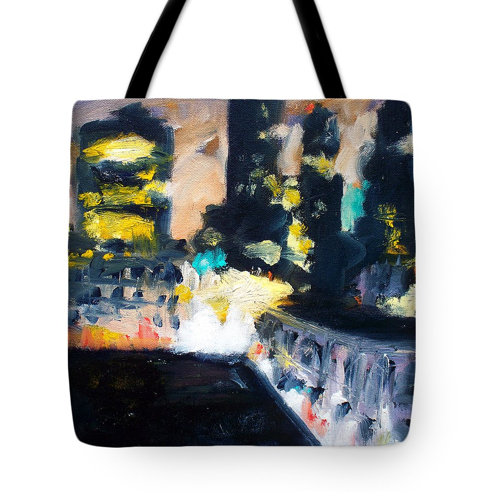 Des Moines Tote Bag featuring the painting Gotham by Robert Reeves