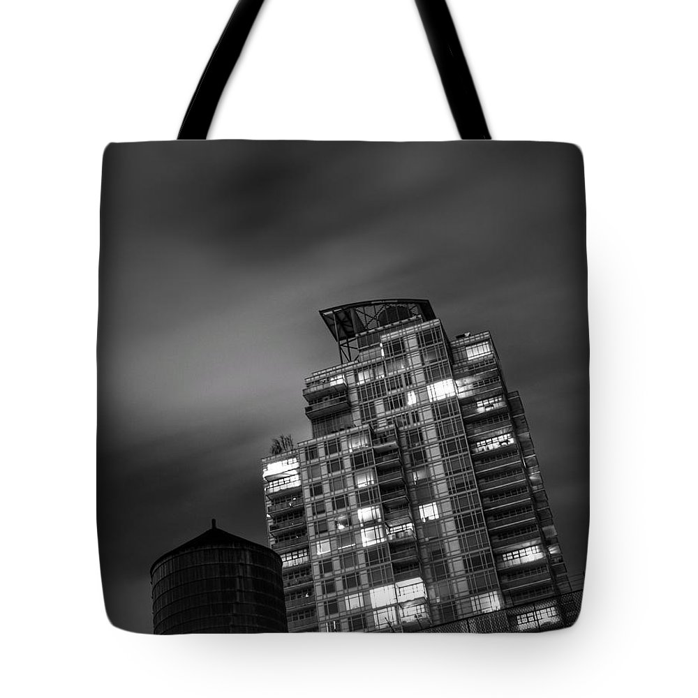 New Tote Bag featuring the photograph Gotham Rooftop by Heather Reichel