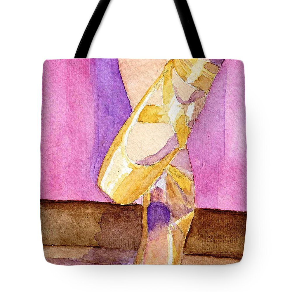 Watercolor Tote Bag featuring the painting Gotta Dance by Lynne Reichhart