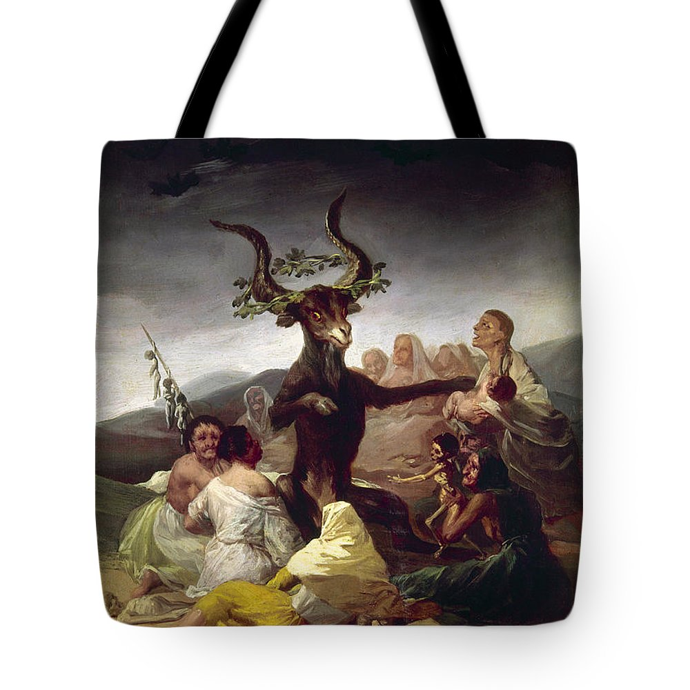 1795 Tote Bag featuring the photograph Goya: Witches Sabbath by Granger