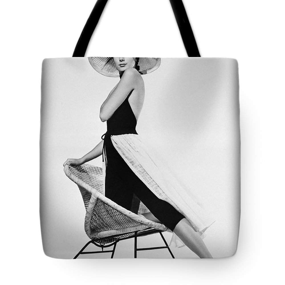 Hollywood Stars Celebrity Tote Bag featuring the photograph Grace Kelly Need I Say More by Peter Nowell