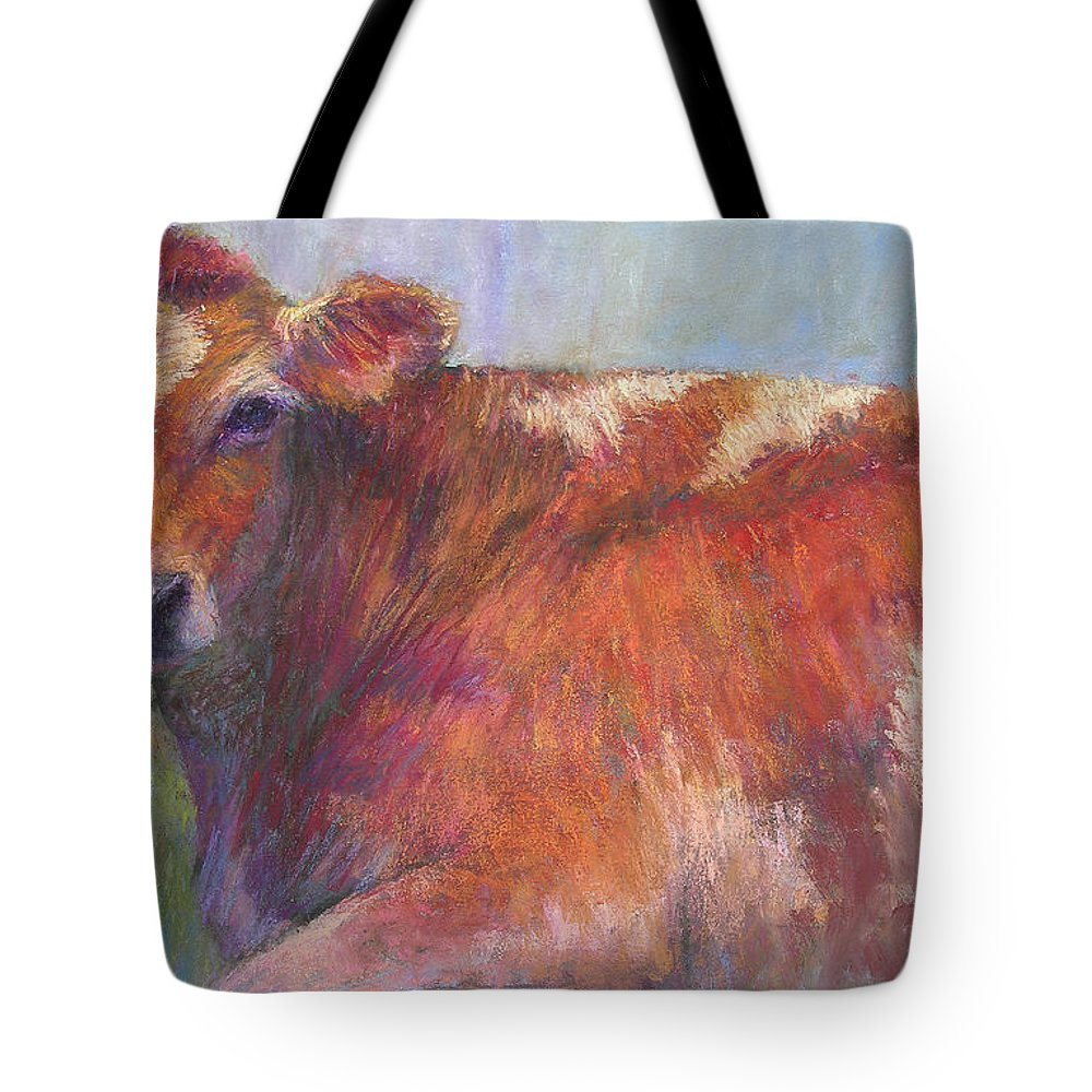 Cattle Tote Bag featuring the painting Grace by Susan Williamson