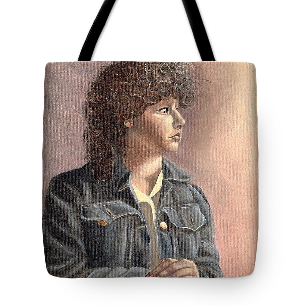 Tote Bag featuring the painting Grace by Toni Berry