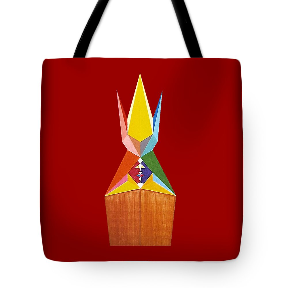 Contemporaryart Tote Bag featuring the painting Graciousness by Michael Bellon