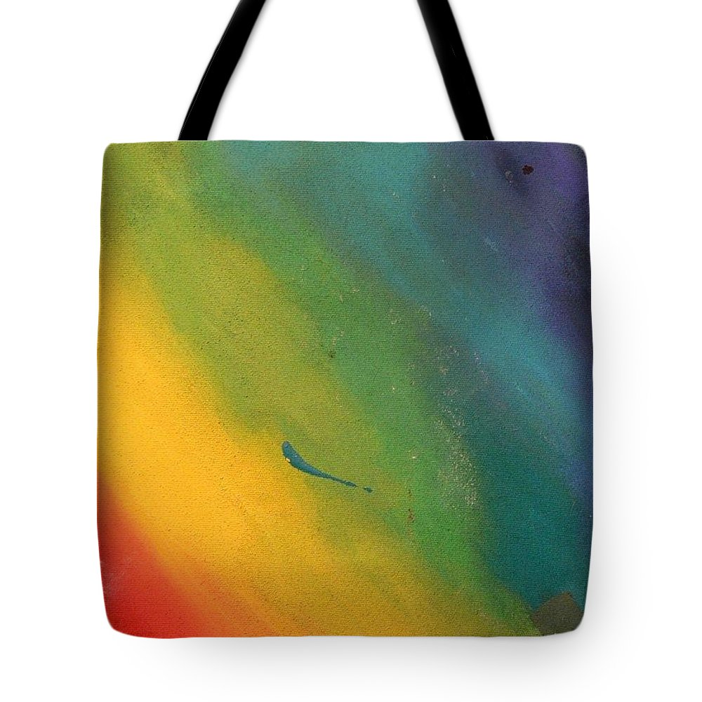 Colorful Tote Bag featuring the painting Gradation Of Color by Serina Wells