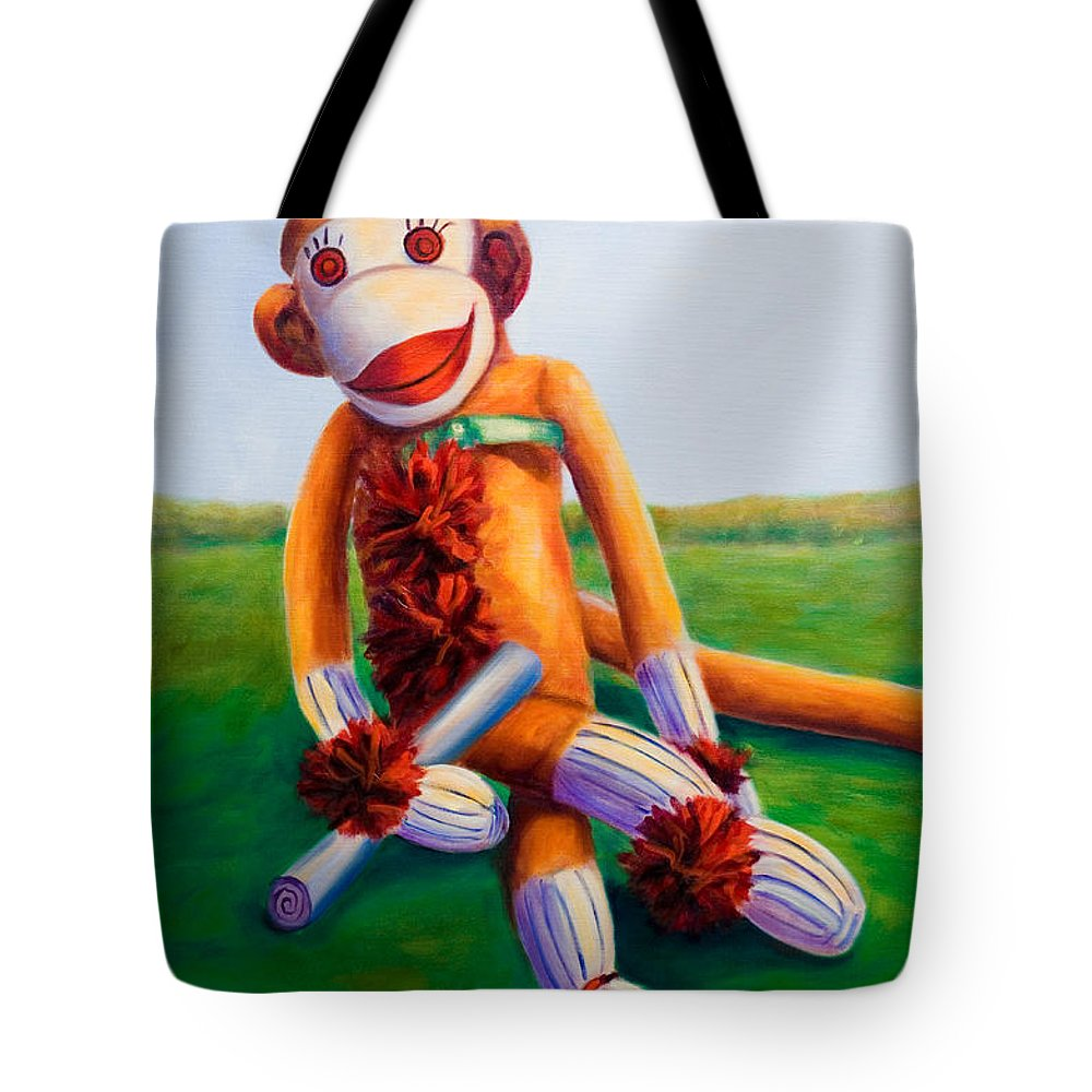 Graduation Tote Bag featuring the painting Graduate Made of Sockies by Shannon Grissom