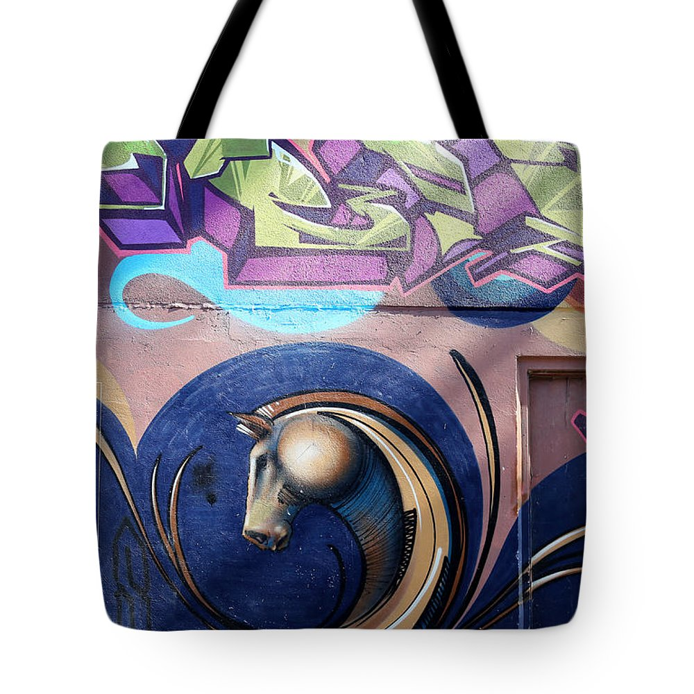 Graffiti Tote Bag featuring the photograph Graffiti 10 by Andrew Fare