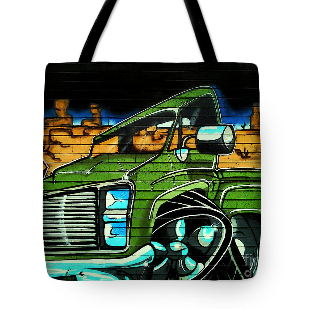 Graffiti Tote Bag featuring the photograph Graffiti 10 by Ben Yassa