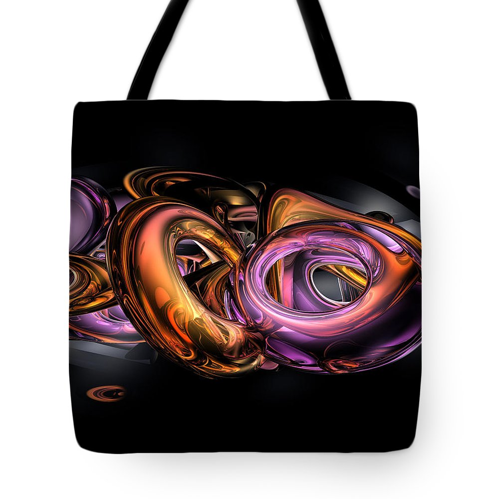 3d Tote Bag featuring the digital art Graffiti Abstract by Alexander Butler