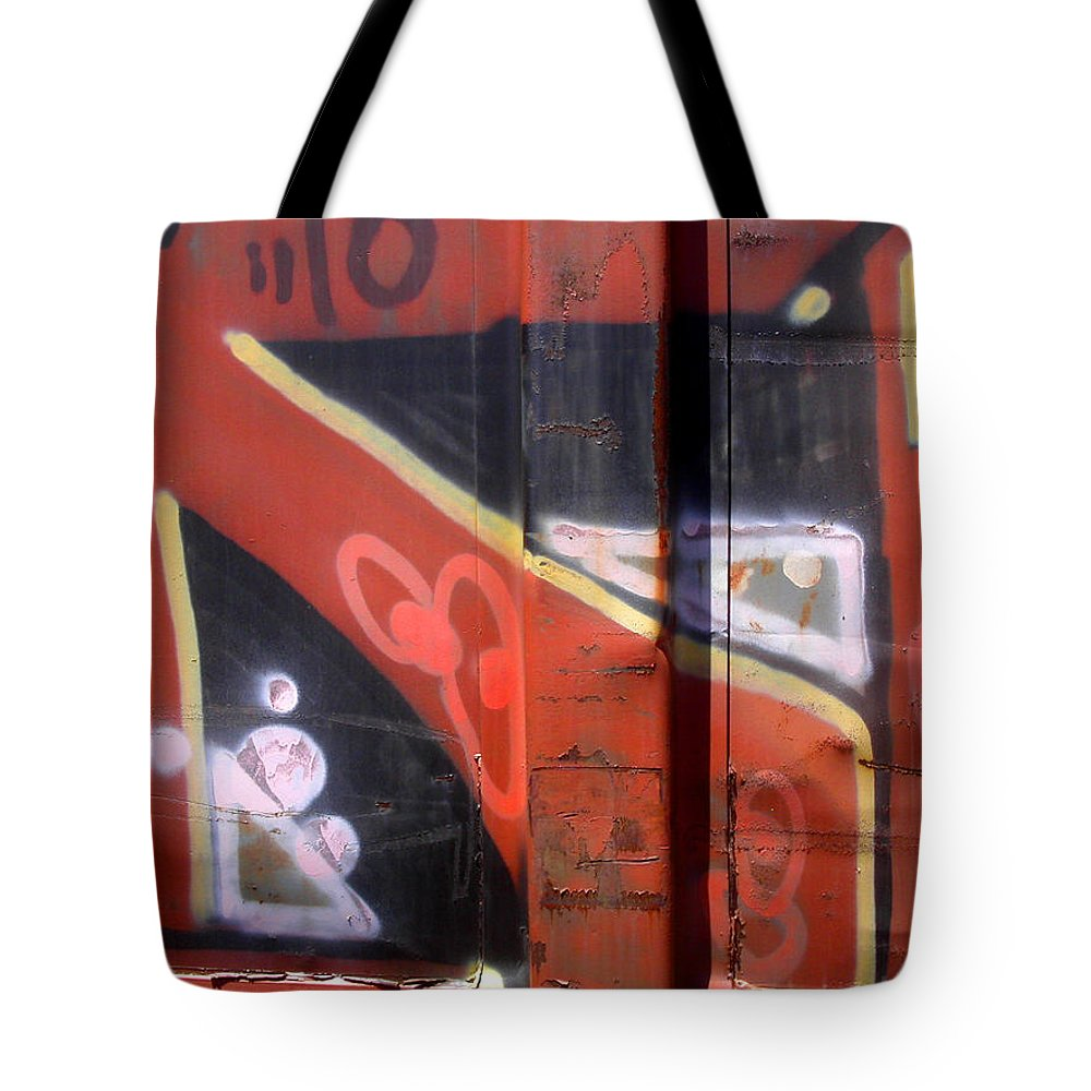 Train Tote Bag featuring the photograph Graffiti Closeup by Anne Cameron Cutri