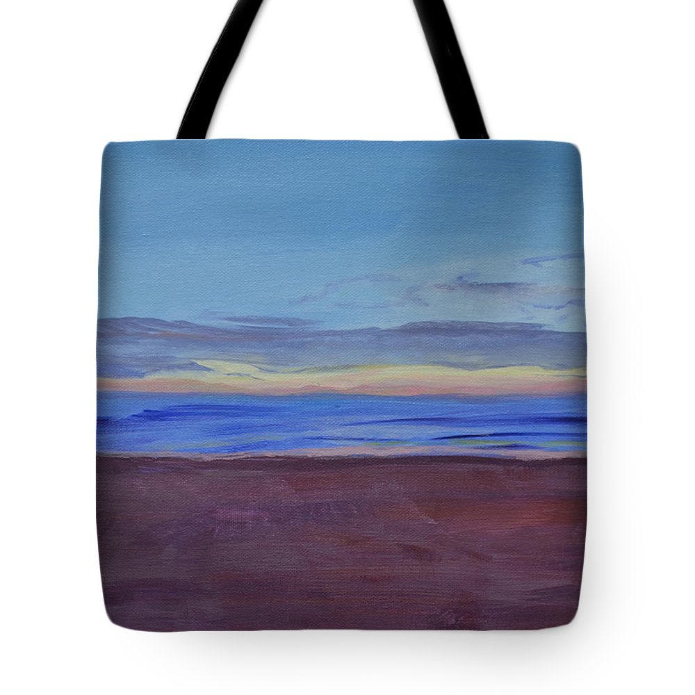 Beach Tote Bag featuring the painting Graham's Beach by Mary Chant