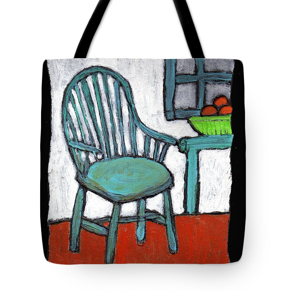 Chair Tote Bag featuring the painting Grampa's Empty Chair by Wayne Potrafka