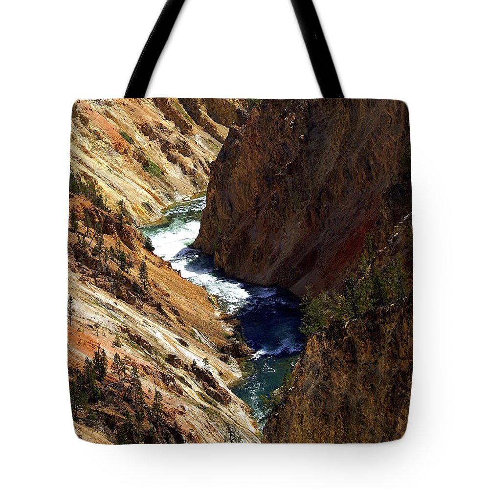 Yellowstone National Park Tote Bag featuring the photograph Grand Canyon Of The Yellowstone 1 by Marty Koch