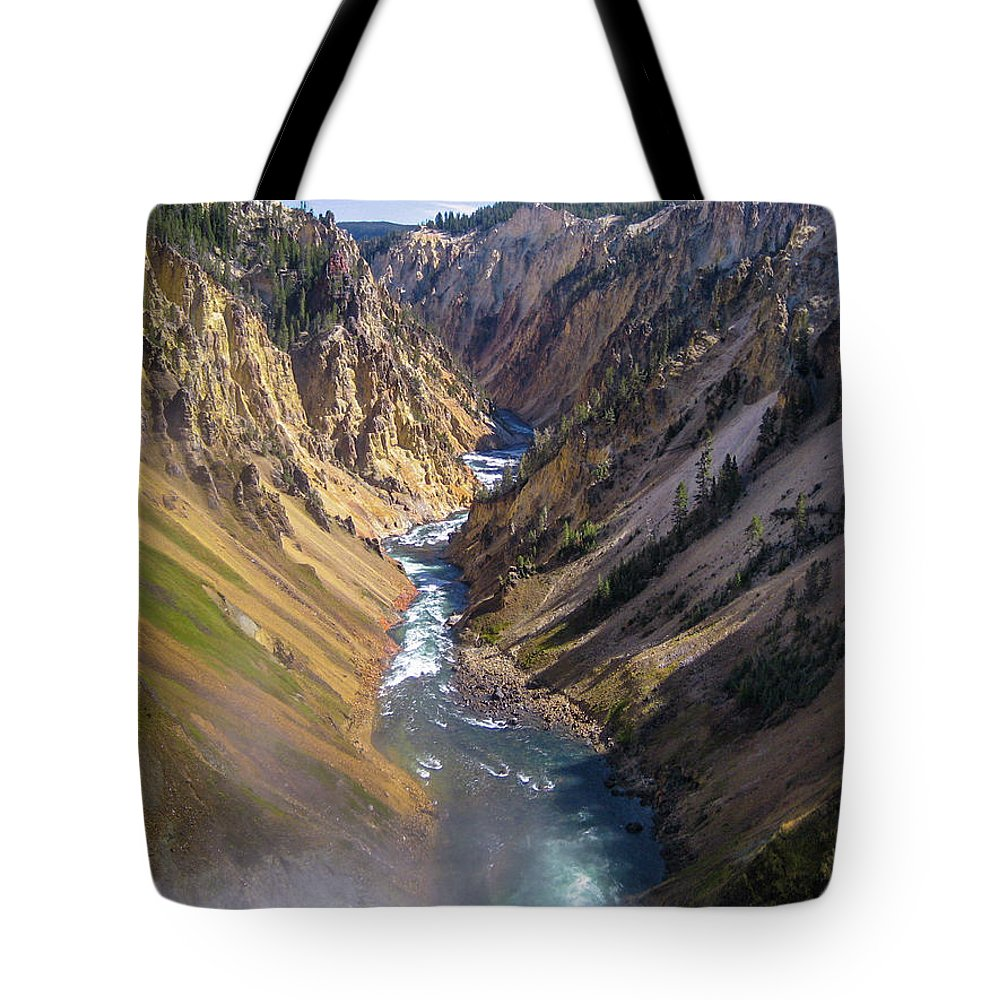 Nature Tote Bag featuring the photograph Grand Canyon Of The Yellowstone by Stephen Rowles
