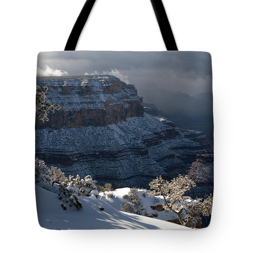 Grand Canyon Tote Bag featuring the photograph Grand Canyon Storm by Sandra Bronstein