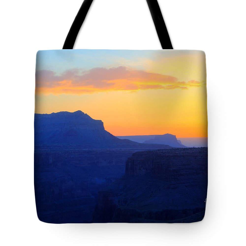 Grand Canyon Tote Bag featuring the photograph Grand Canyon Sunrise At Toroweap by Bob Christopher