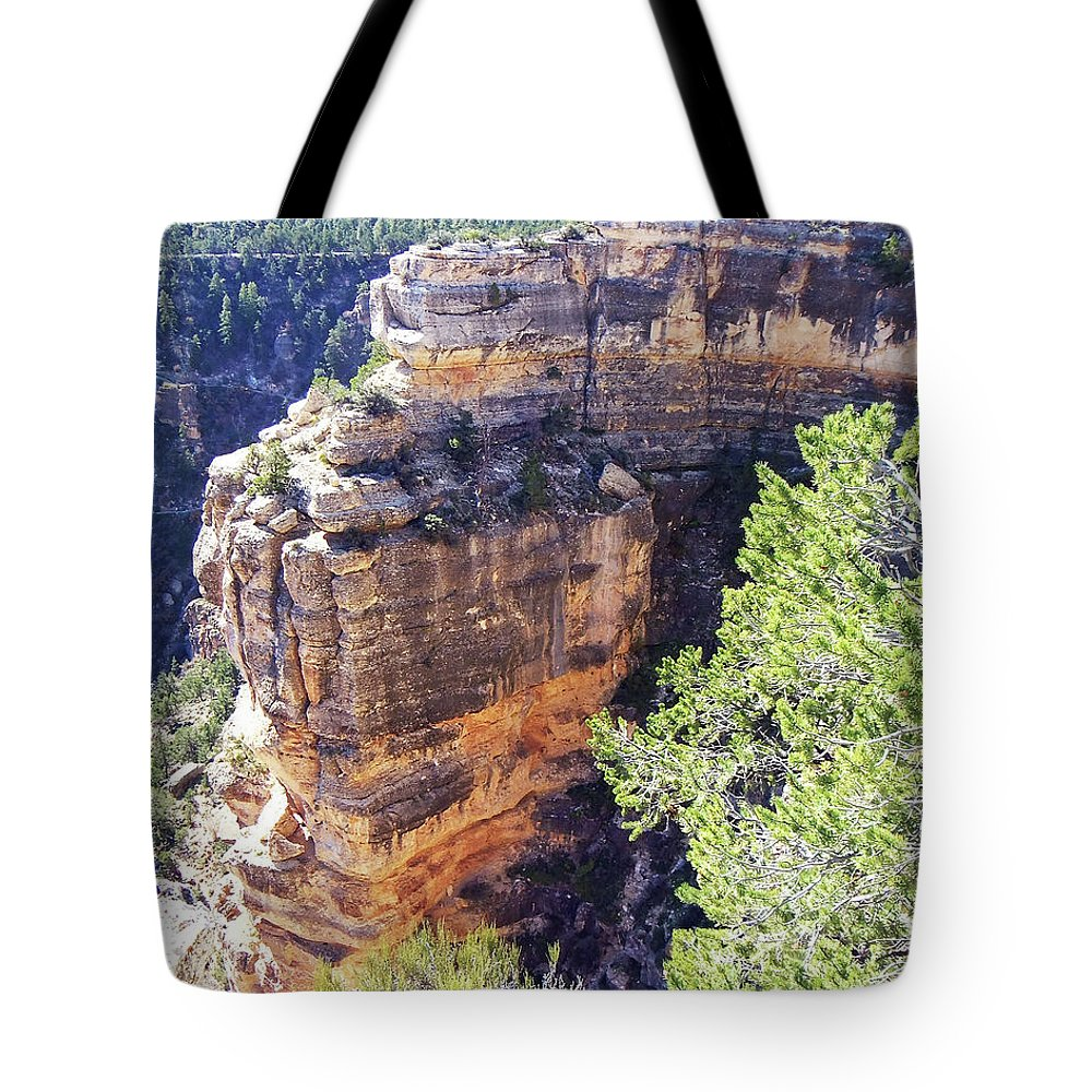 The Grand Canyon Is Arizona's Wonder Of The World. Tote Bag featuring the photograph Grand Canyon19 by George Arthur Lareau