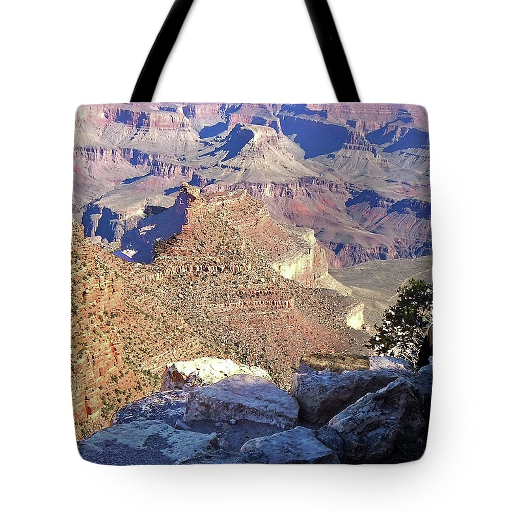 The Grand Canyon Is Arizona's Wonder Of The World. Tote Bag featuring the photograph Grand Canyon8 by George Arthur Lareau