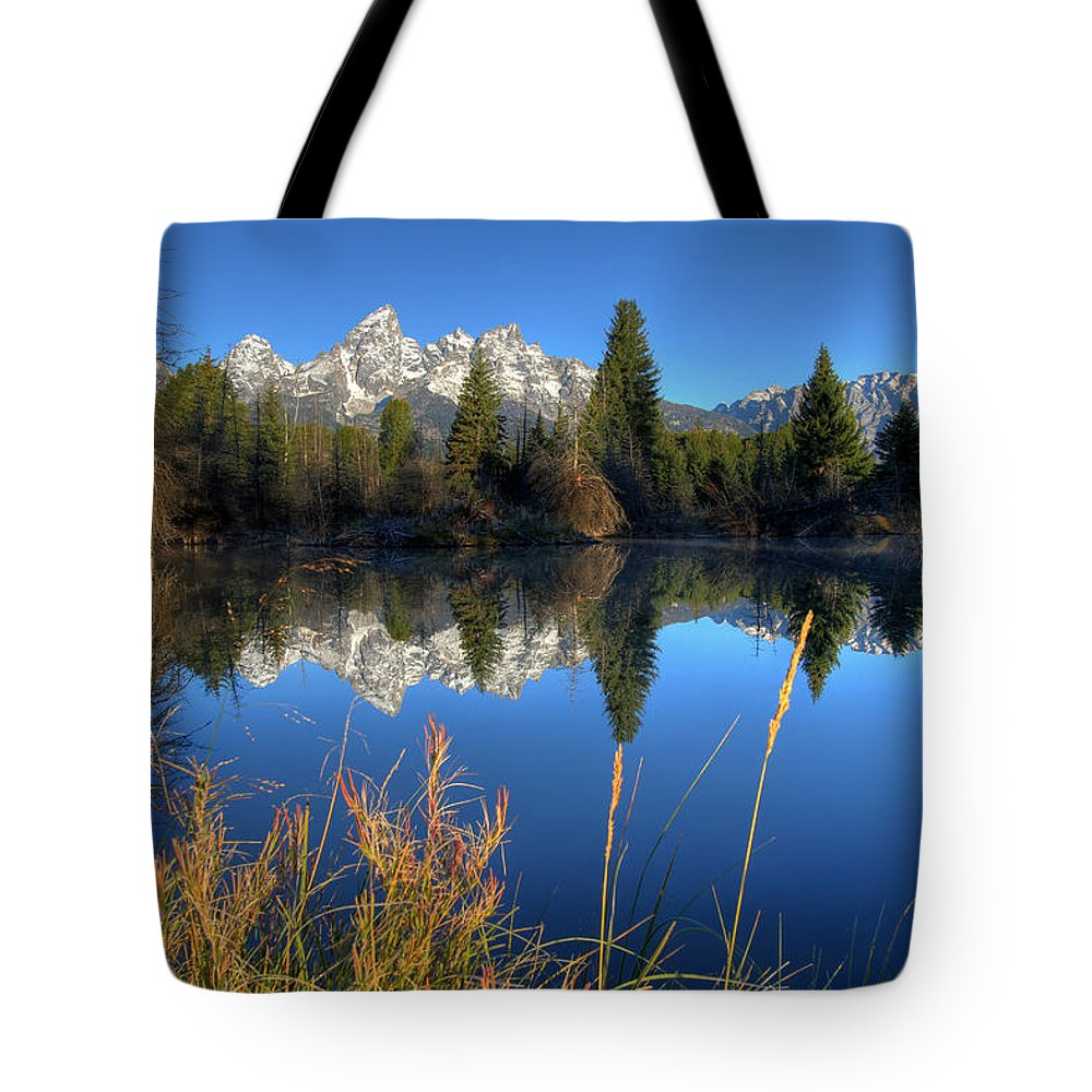 No People Tote Bag featuring the photograph Grand Teton National Park by Brett Pelletier