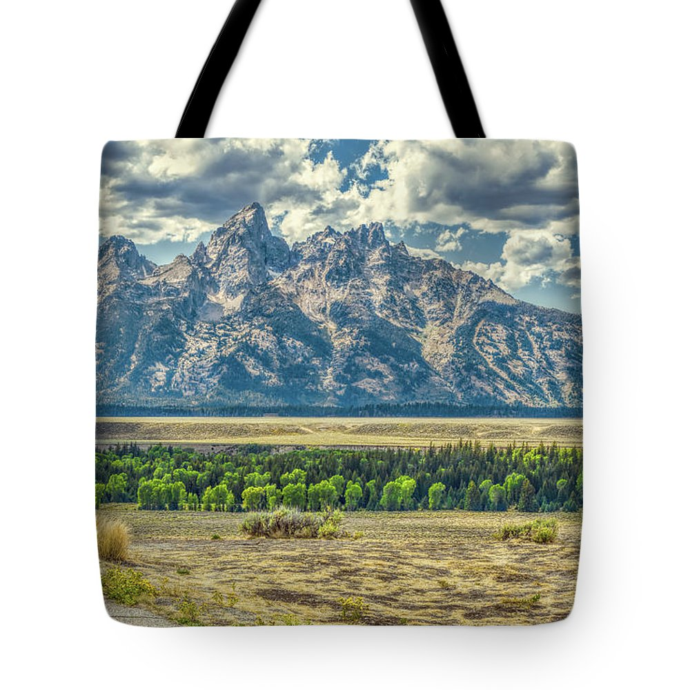 Jackson Tote Bag featuring the photograph Grand Tetons National Park by John M Bailey