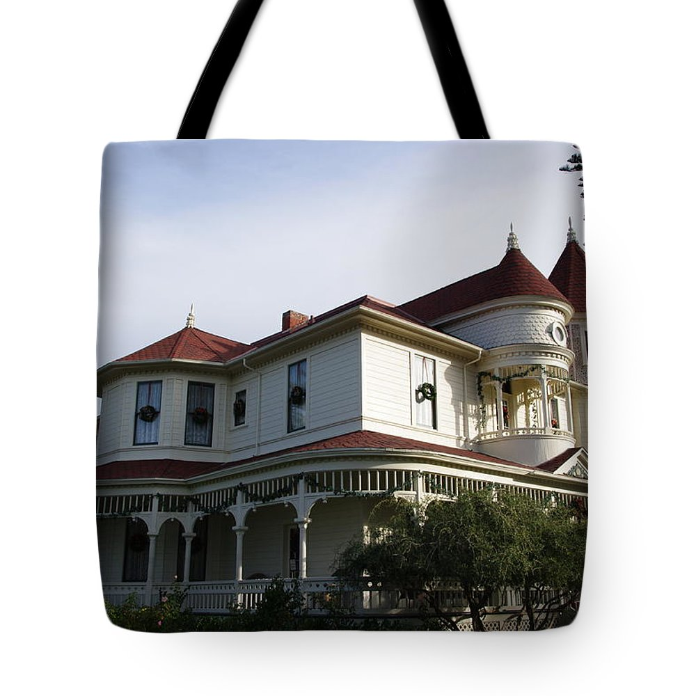 Victorian Mansion Tote Bag featuring the photograph Grand Victorian Mansion by Jeff Lowe