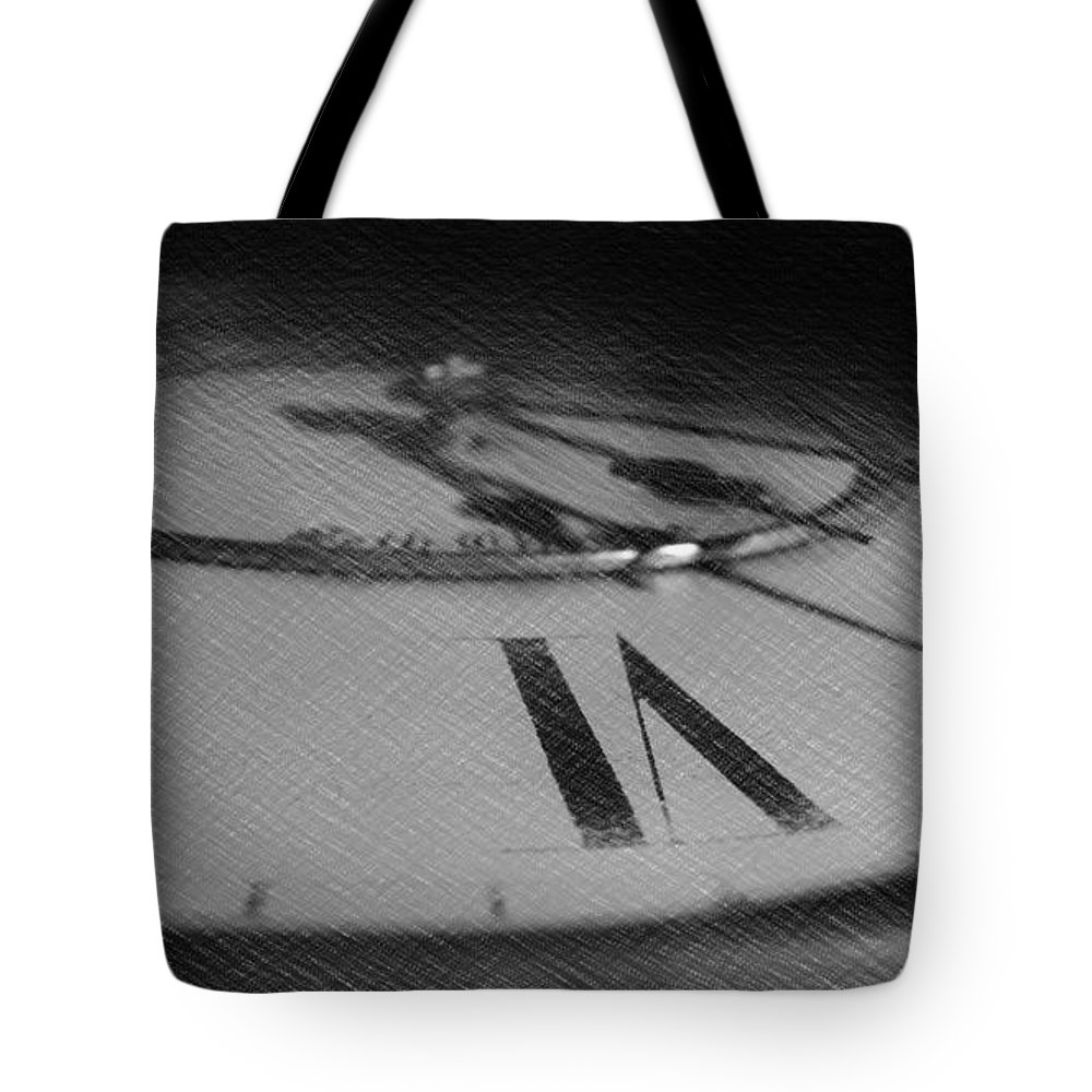 Sketch Tote Bag featuring the photograph Grandfather Clock by Dominique Molee