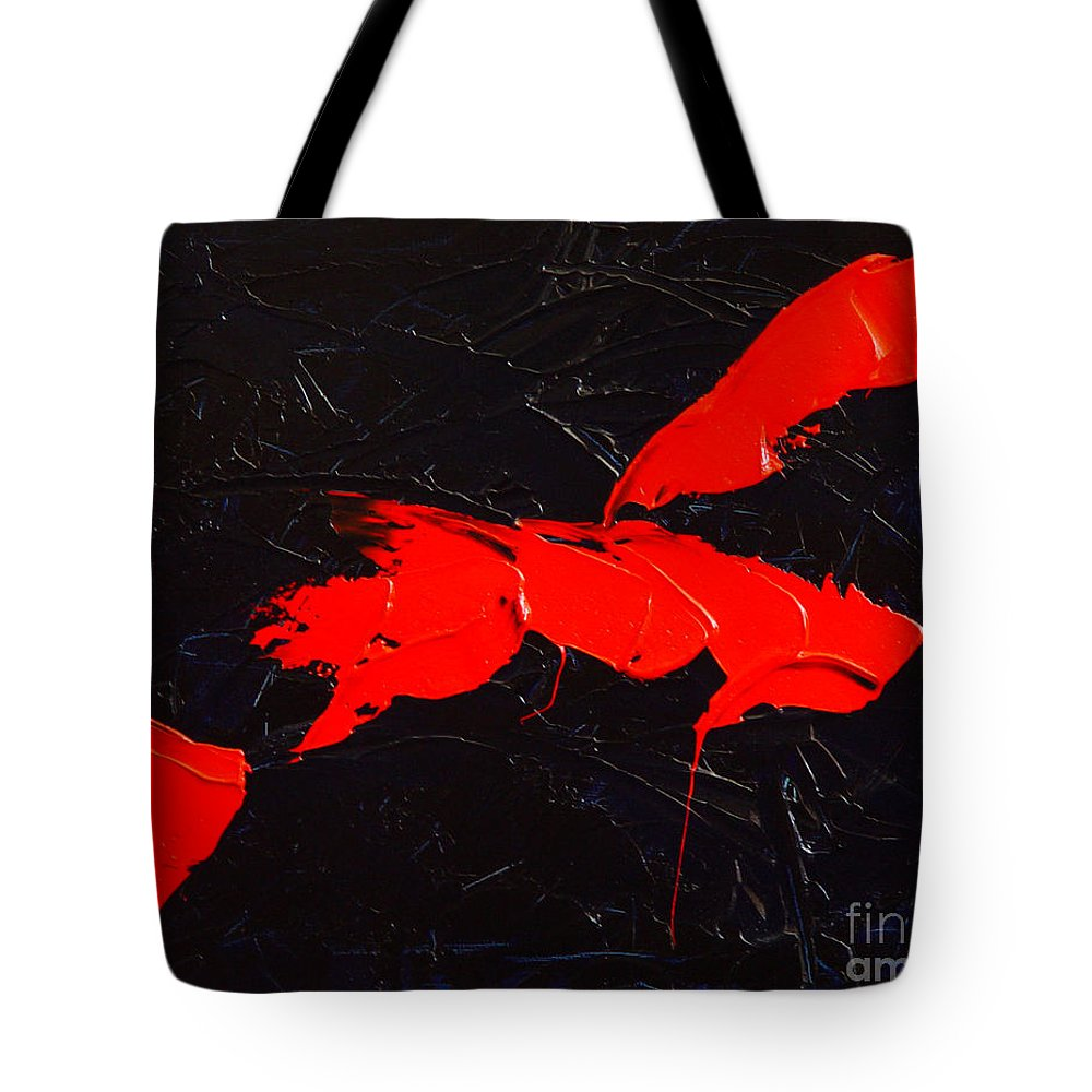 Abstract Tote Bag featuring the painting Grandma I by Dean Triolo