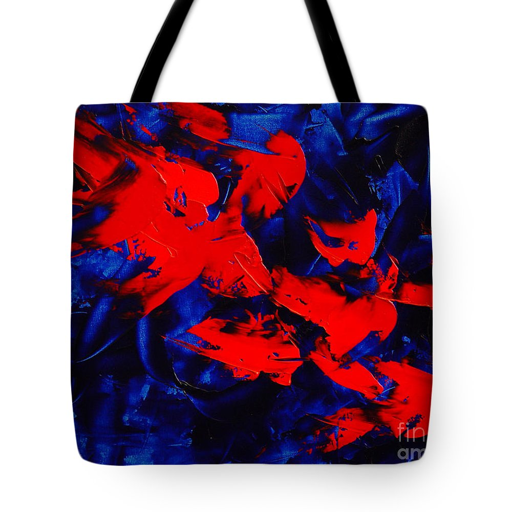 Abstract Tote Bag featuring the painting Grandma II by Dean Triolo