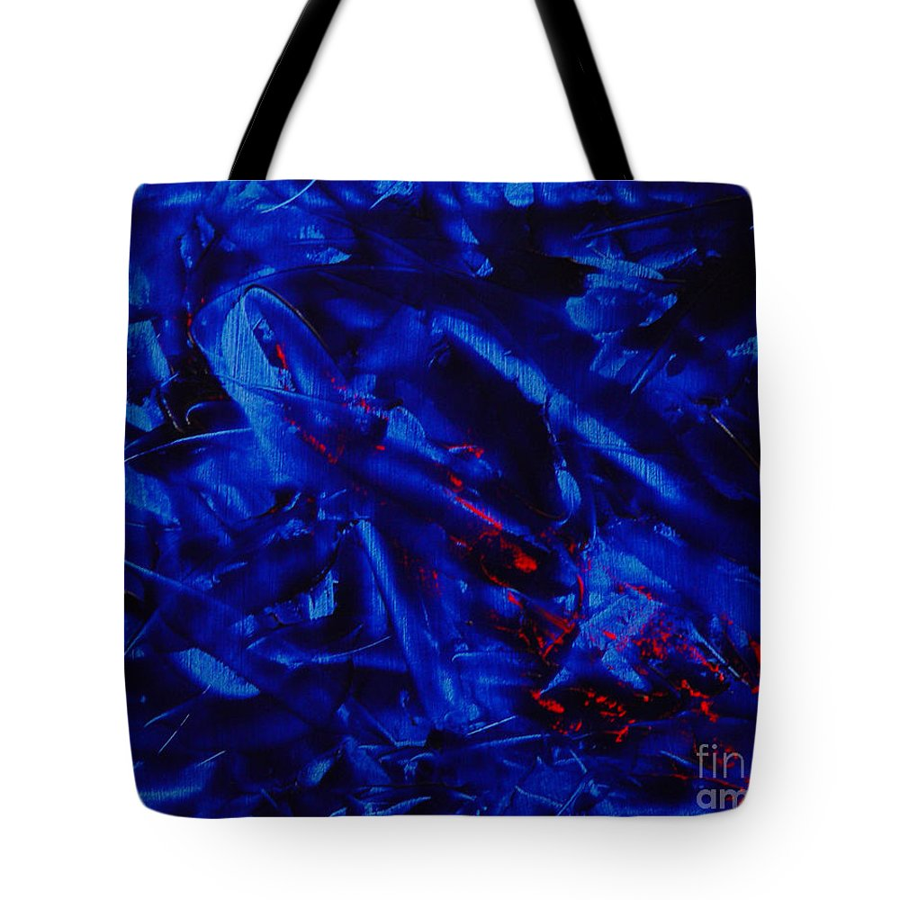 Abstract Tote Bag featuring the painting Grandma IIi by Dean Triolo