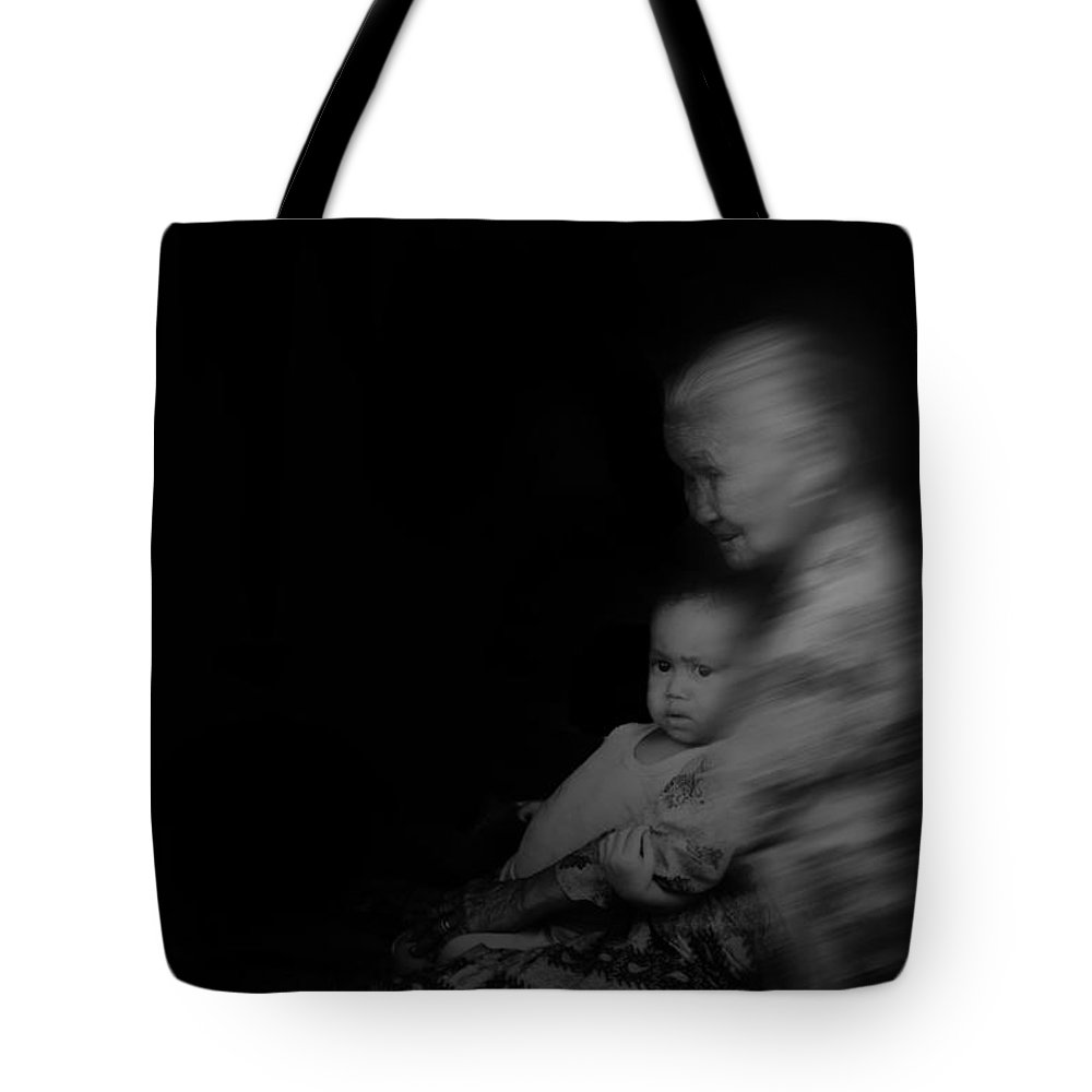 Tote Bag featuring the photograph Grandmother by Syaifudin Zhuhdi