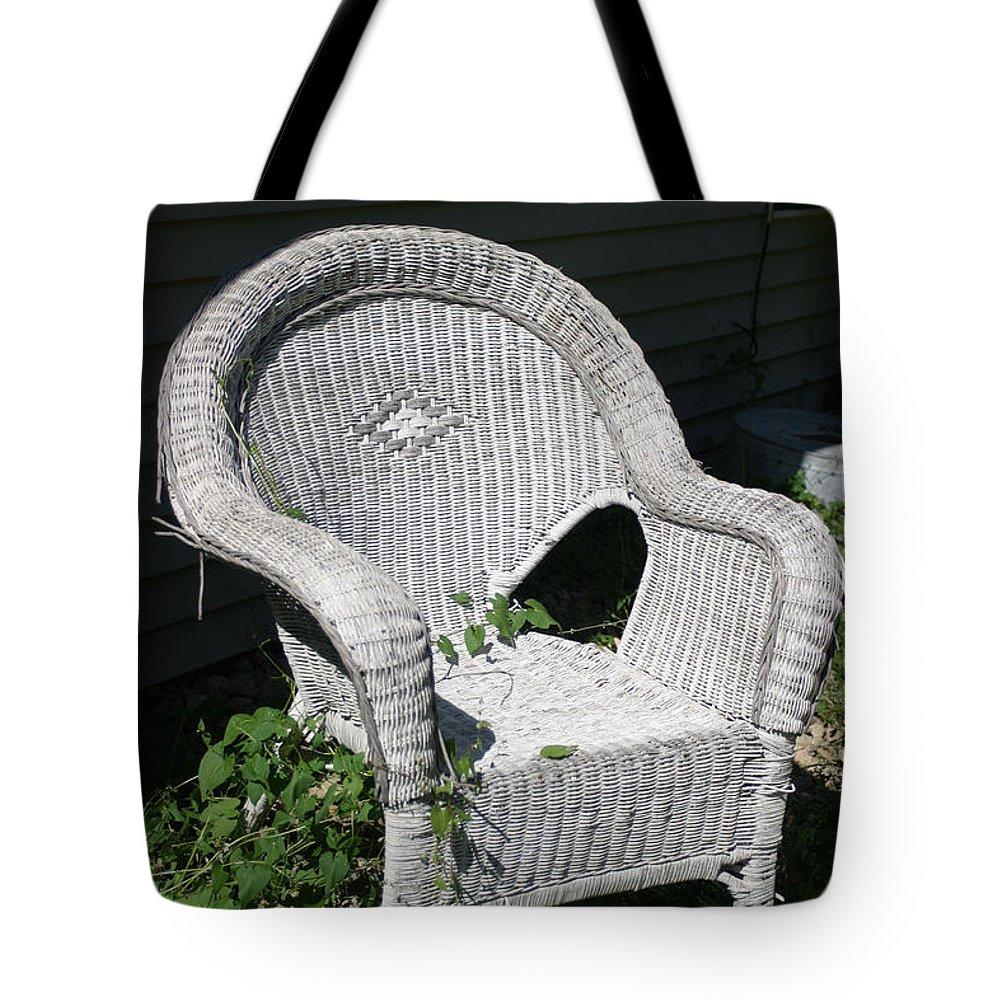 Chair Tote Bag featuring the photograph Grandpa's Chair by Bjorn Sjogren