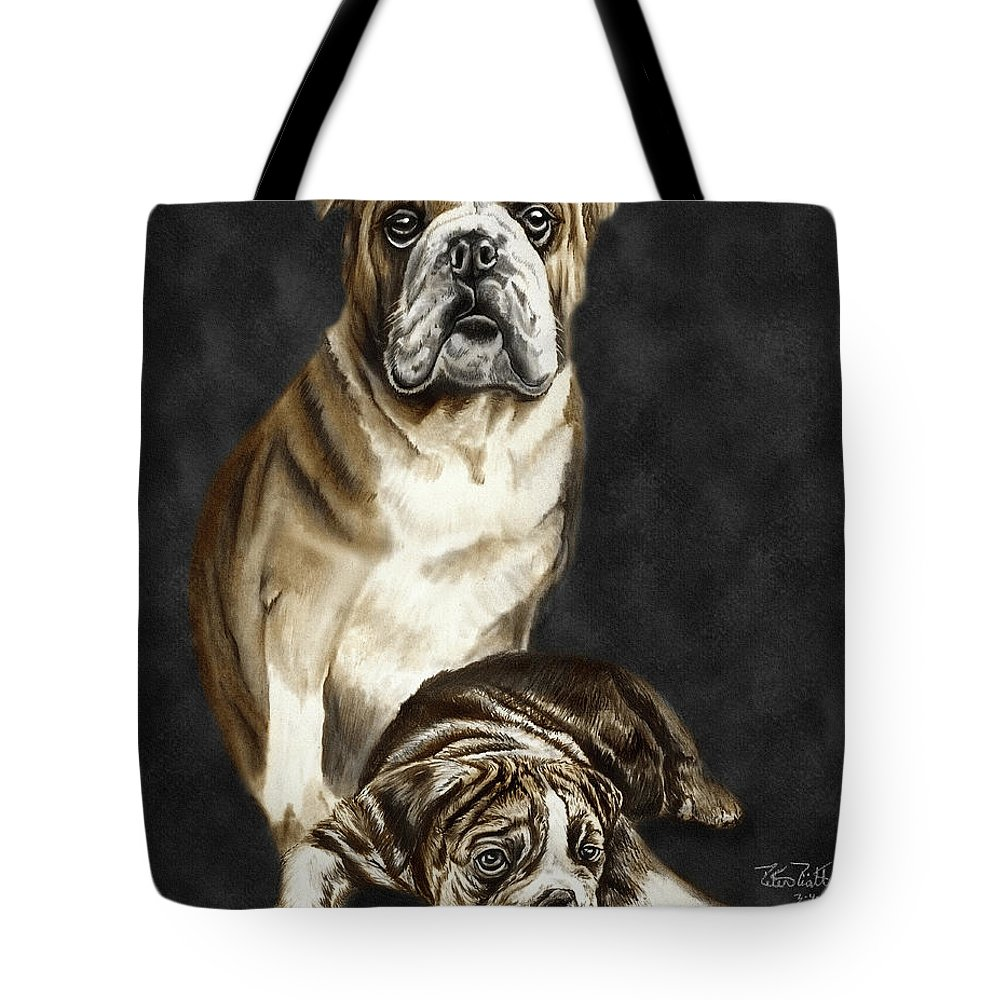 Grandson Of Sampson Tote Bag featuring the drawing Grandson Of Sampson 2 by Peter Piatt