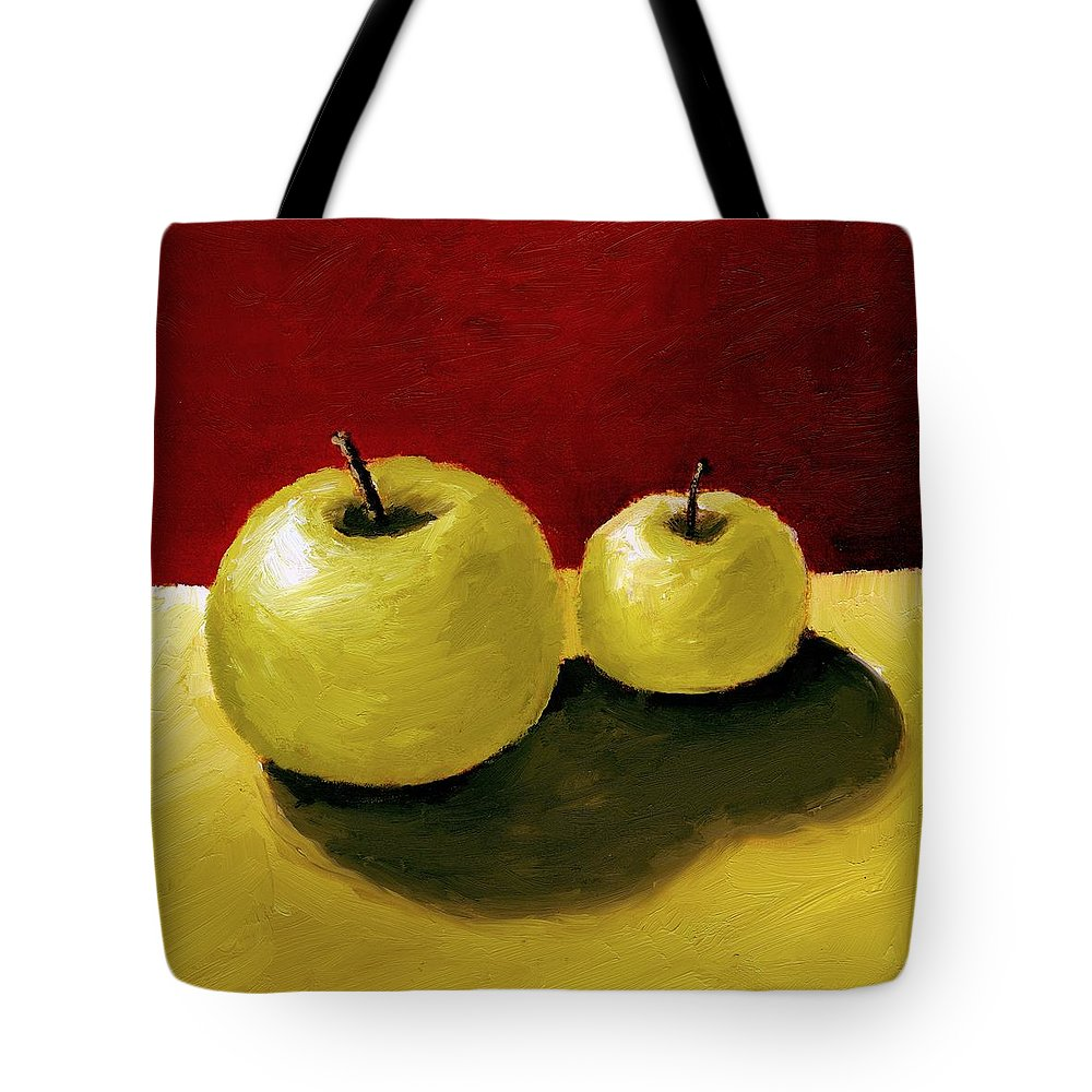 Apple Tote Bag featuring the painting Granny Smith Apples by Michelle Calkins