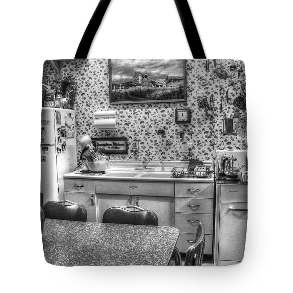 Vintage Kitchen Tote Bag featuring the photograph Granny's Kitchen by Wild Fire