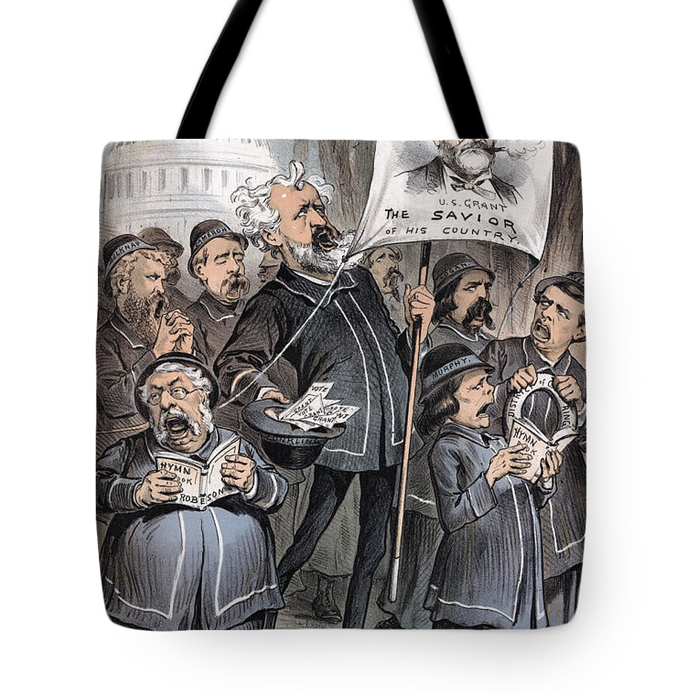 1880 Tote Bag featuring the photograph Grant Cartoon, 1880 by Granger