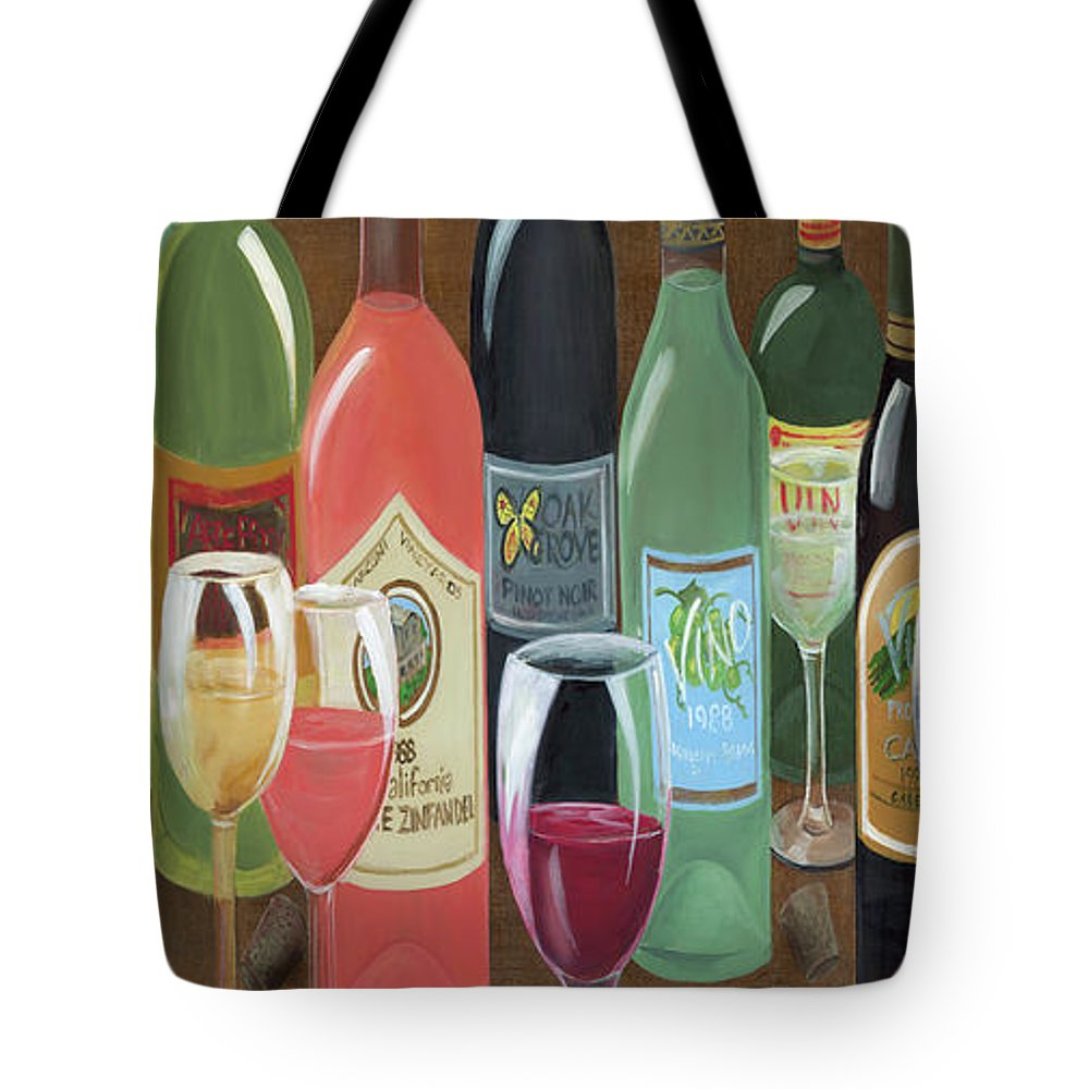 Whimsical Tote Bag featuring the painting Grape Escape by D Hummel-Marconi