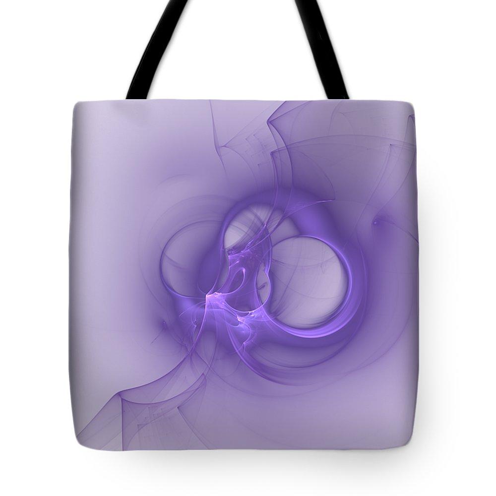 Fractal Tote Bag featuring the digital art Grape Wings by John Pirillo
