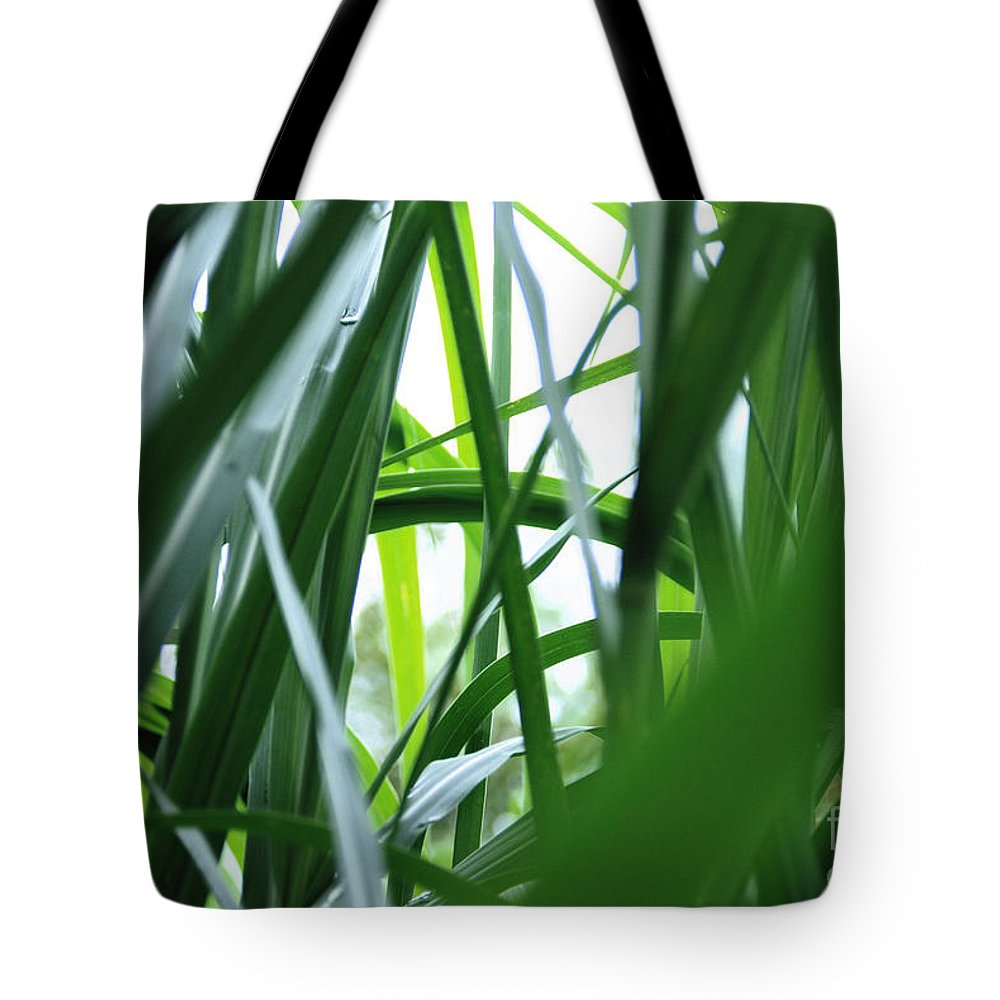 Abstract Tote Bag featuring the photograph Grass by Carl Ellis