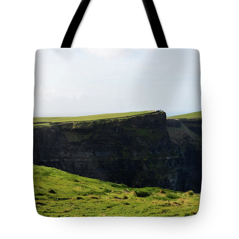 Field Tote Bag featuring the photograph Grass Fields Surrounding The Cliff's Of Moher by DejaVu Designs