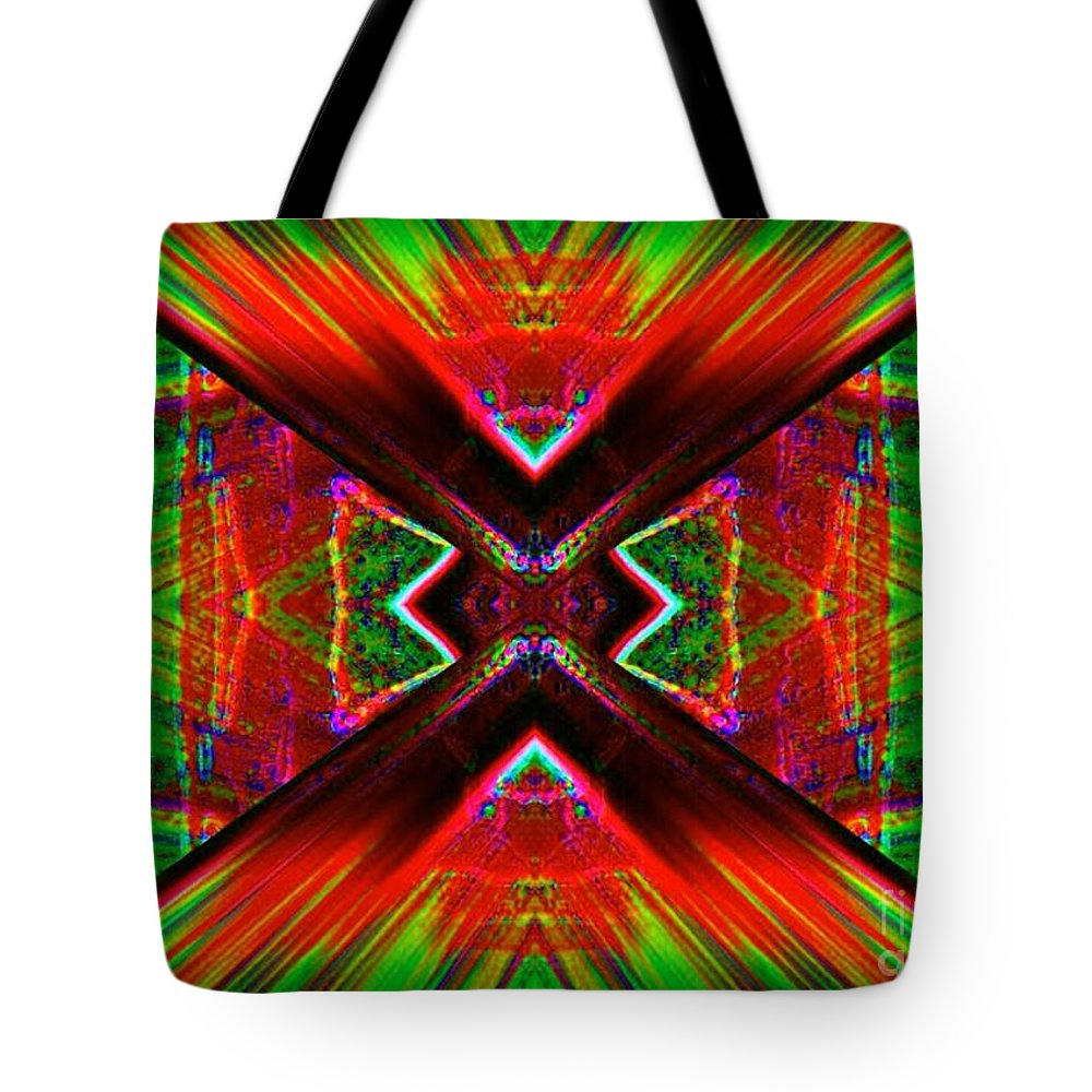 Lorles Lifestyles Tote Bag featuring the digital art Anguish by Lorles Lifestyles