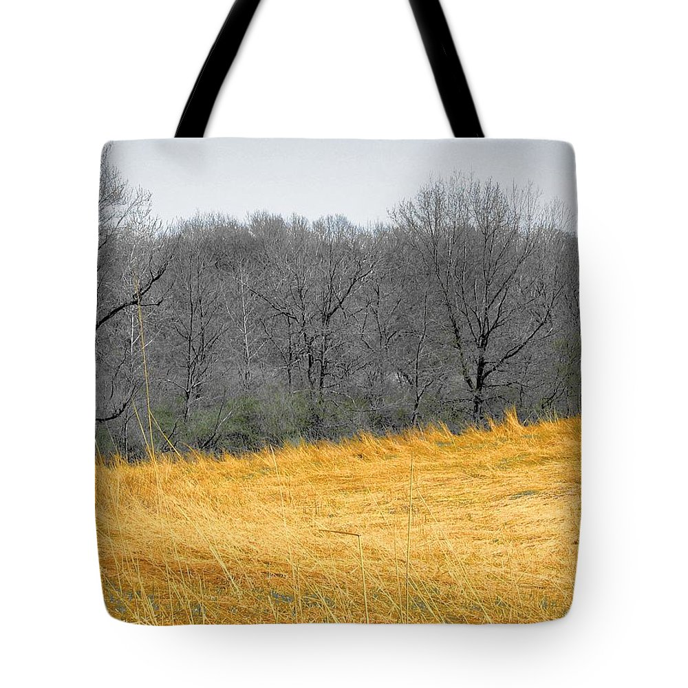 Landscape Tote Bag featuring the photograph Grass Of Fire by Dylan Punke